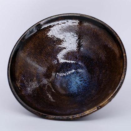 V shaped brown bowl