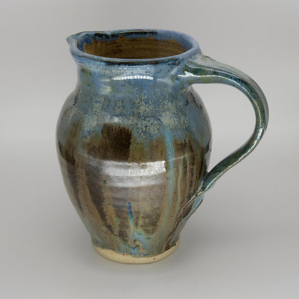 Large blue-green jug