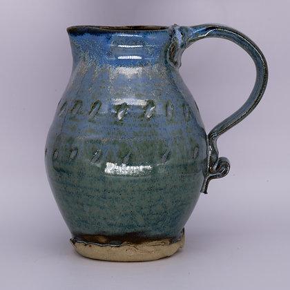 Blue-green jug