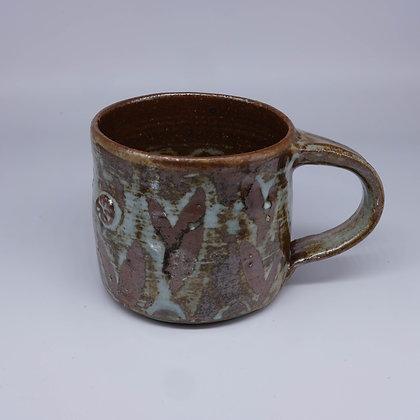 Brown wax resist mug