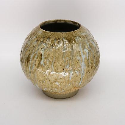 Hand textured Moon jar