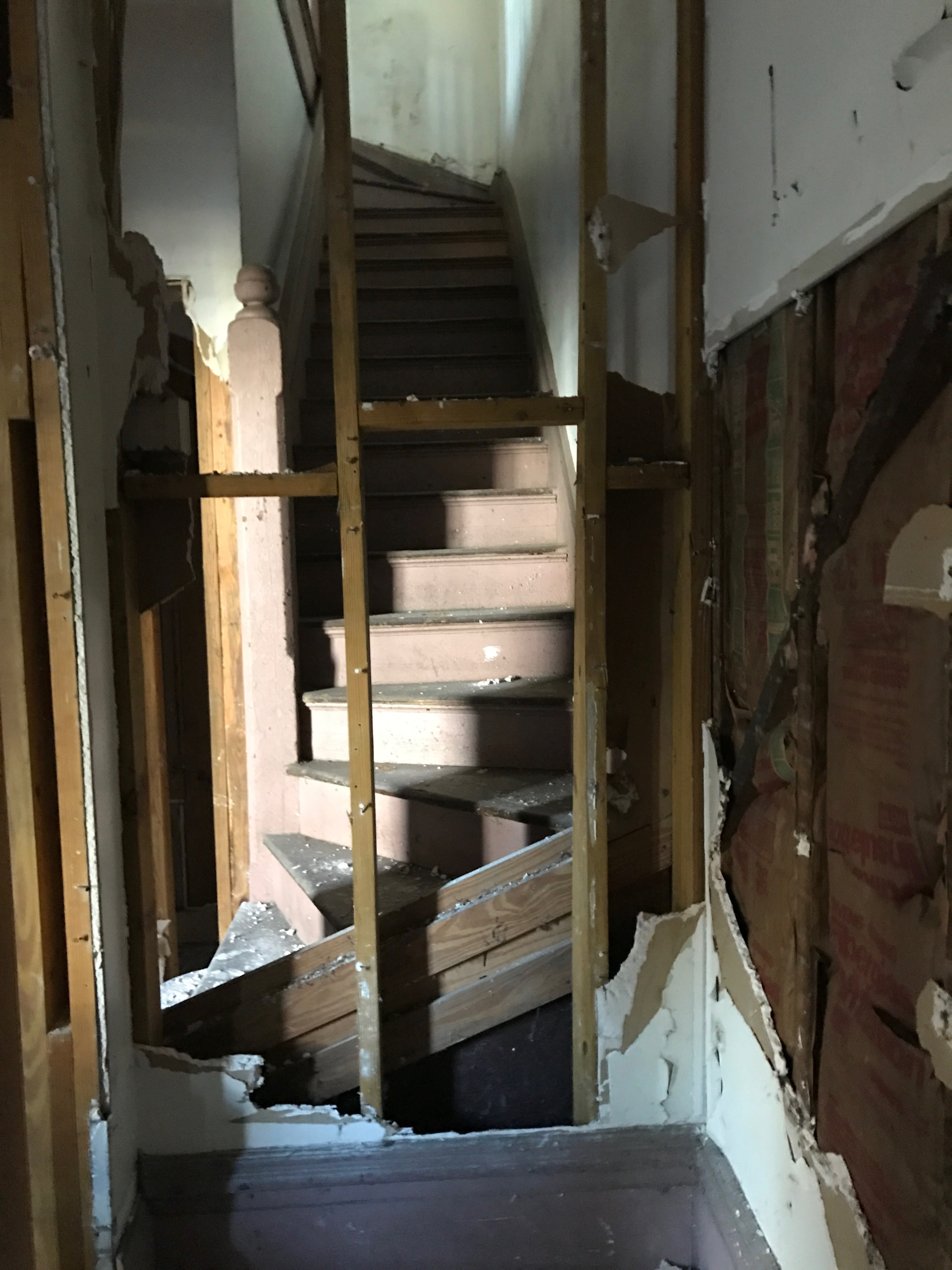 before stairs/hall
