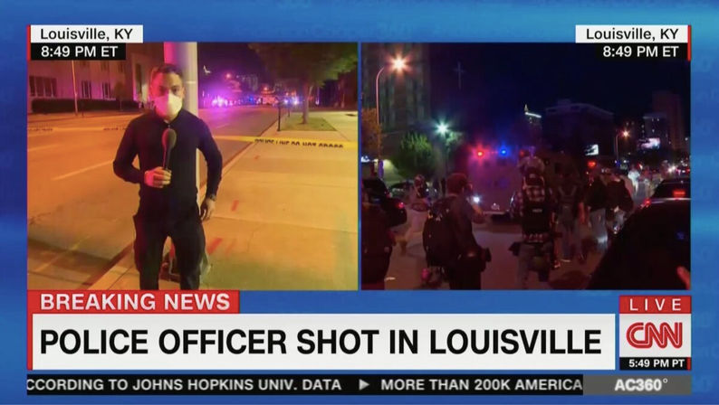 CNN-Reports-One-Police-Officer-Shot-in-L