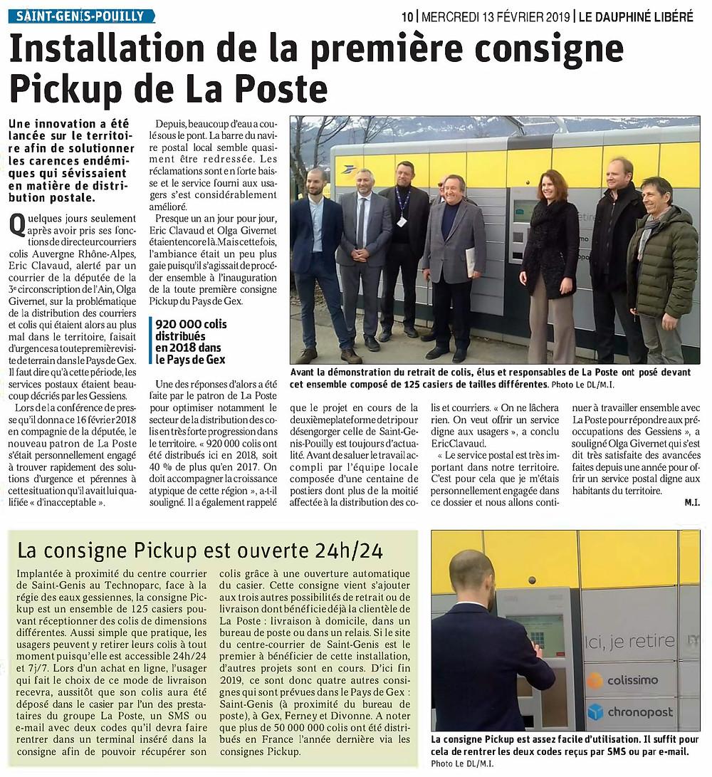 Article PickUp La Poste