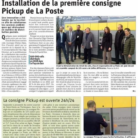 Le Dauphiné libéré : Installation de la première consigne PickUp de La Poste