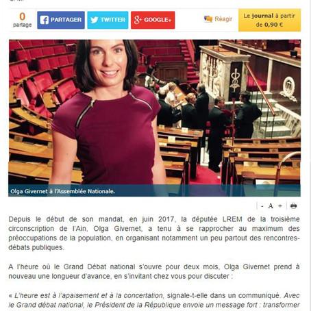 Le Pays Gessien : Votre députée se rend chez vous pour débattre