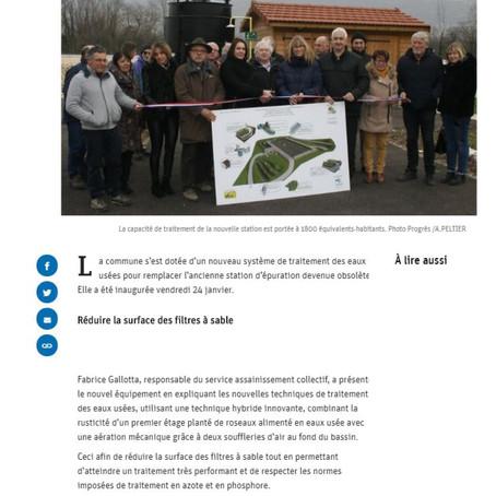 Le Progrès : la nouvelle station d'épuration a été inaugurée - Anglefort