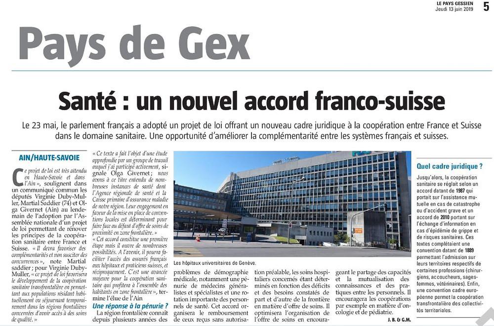 Article - Pays Gessien