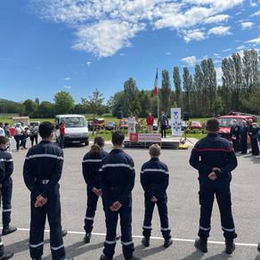 Remise du prix départemental 2020 aux jeunes sapeurs pompiers du Nord-Est Gessien