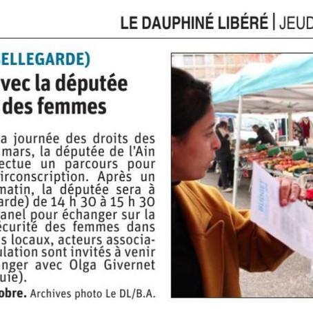 Le Dauphiné libéré : Un échange avec la députée sur les droits des femmes