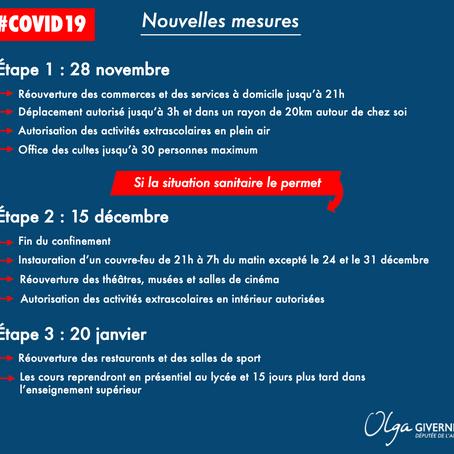 Nouvelles mesures COVID19