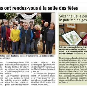 Le Dauphiné libéré : Salon d'automne de Chevry : les artistes au rendez-vous !