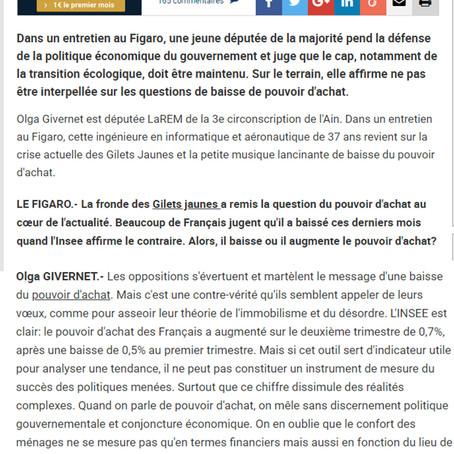 """Le Figaro : """"On ne peut pas réduire notre action au seul indicateur du pouvoir d'achat&quot"""