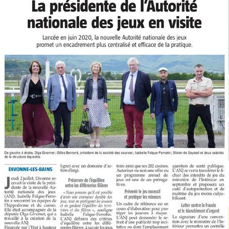 Le Pays Gessien : la présidente de l'Autorité nationale des jeux en visite
