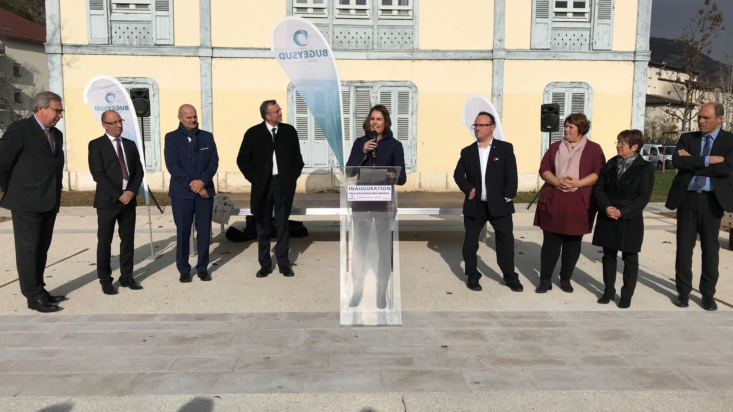 Inauguration pôle multimodal, Culoz