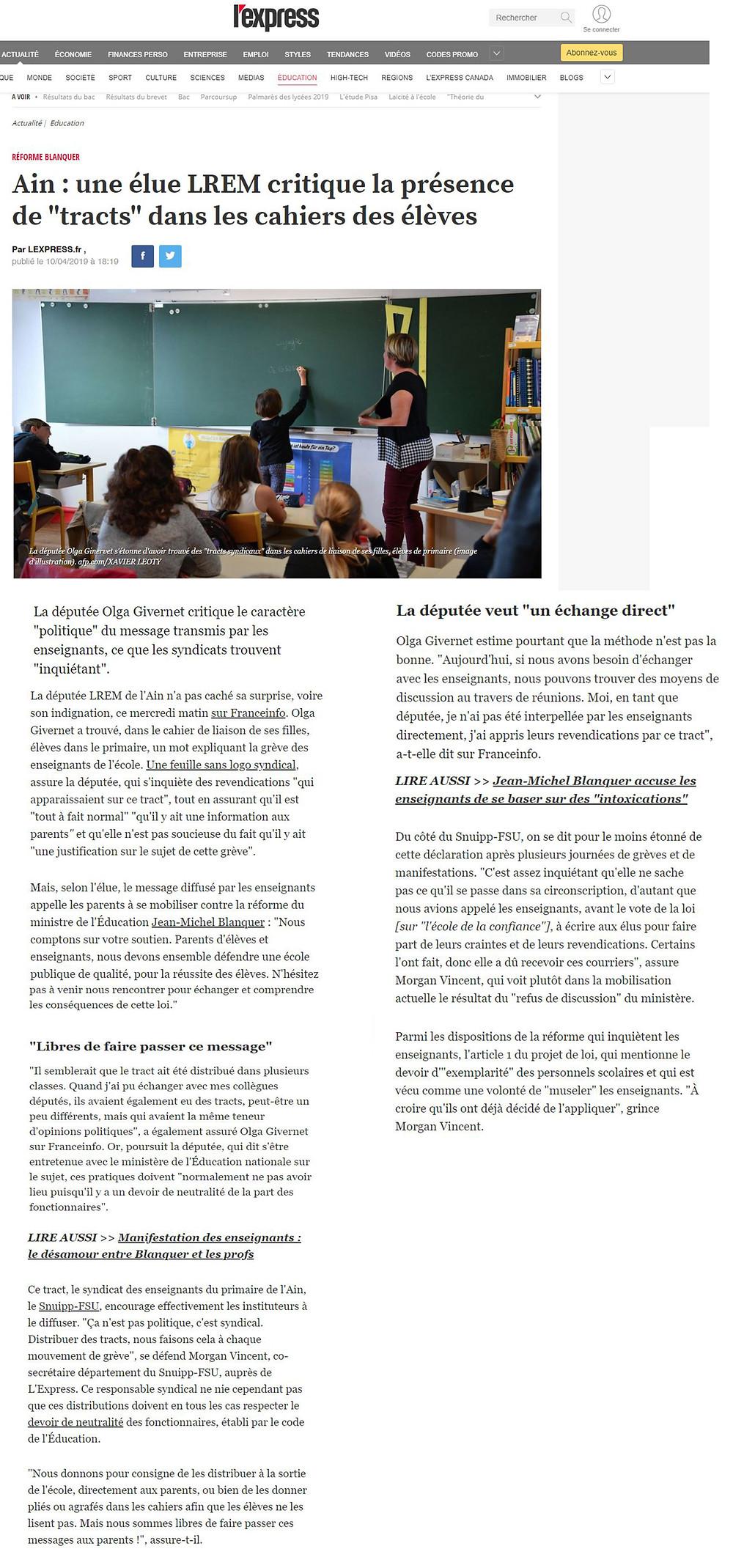 Article L'express