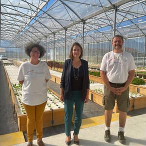 Visite de la ferme aquaponie de Versonnex