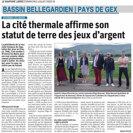 Le Dauphiné libéré : la cité thermale affirme son statut de terre des jeux d'argent
