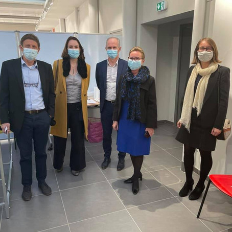 Inauguration du centre de vaccination contre la covid de Valserhône