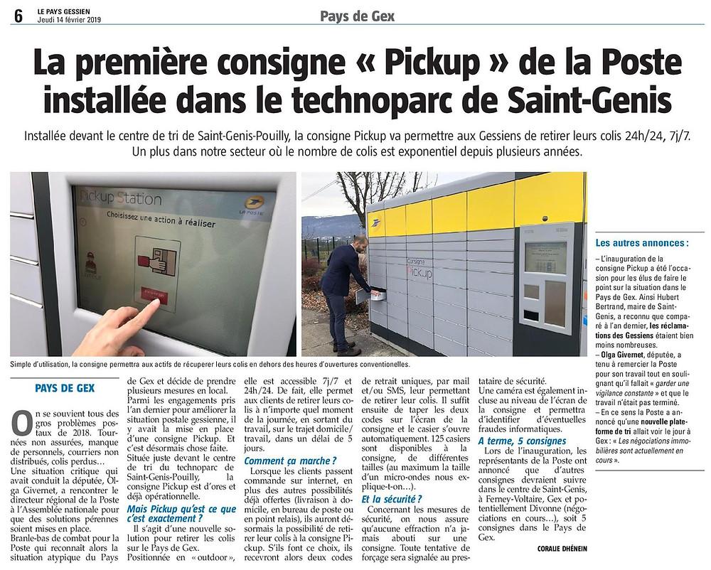 Article PickUp La Poste - PG