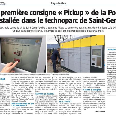 """Le Pays Gessien : La première consigne """"Pickup"""" de La Poste installée à St-Genis"""
