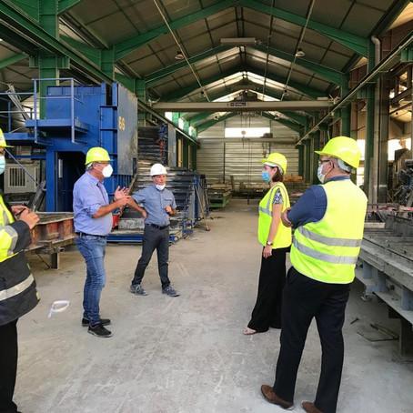 Visite de l'industrie Chazey-Bons Préfa