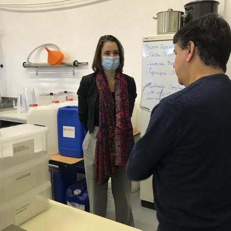 Visite du laboratoire Saniris