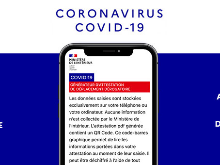 Attestation de déplacement dérogatoire numérique #COVID-19