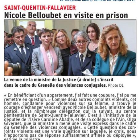 Le Dauphiné libéré : Nicole Belloubet en visite en prison #GVC