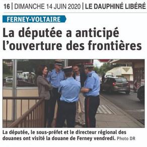 Le Dauphiné libéré : la députée a anticipé l'ouverture des frontières