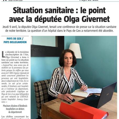 Le Pays Gessien : situation sanitaire, le point avec la députée Olga Givernet