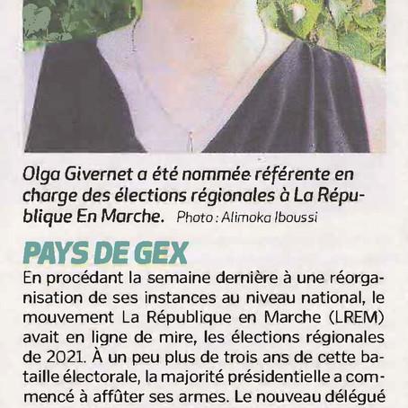 Voix de l'Ain : Olga Givernet, référente régionale