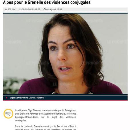 Le Progrès : la députée Olga Givernet représentera la région AuRA pour le #GVC