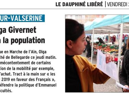 Le Dauphiné : La députée Olga Givernet se confronte à la population