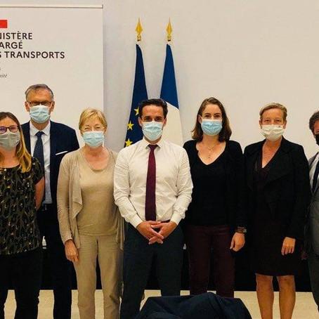 Lyon-Turin : temps d'échanges avec le ministre des transports