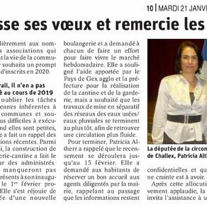 Le Dauphiné libéré : vœux de Challex