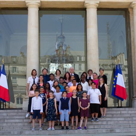 Avec le Conseil municipal des jeunes de Ferney-Voltaire à l'Élysée