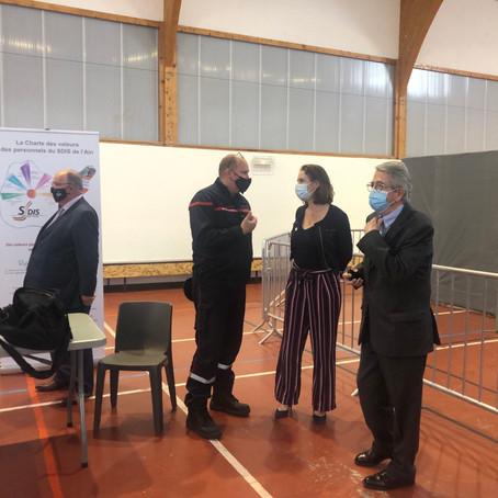 Inauguration du centre de vaccination de Prévessins-Moëns