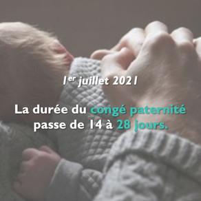 Le congé paternité passe de 14 à 28 jours !