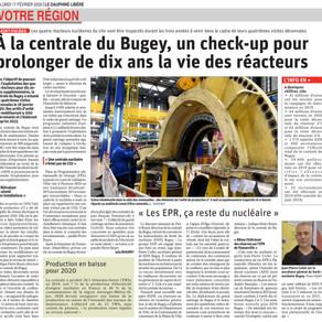Le Dauphiné libéré :  la centrale nucléaire du Bugey