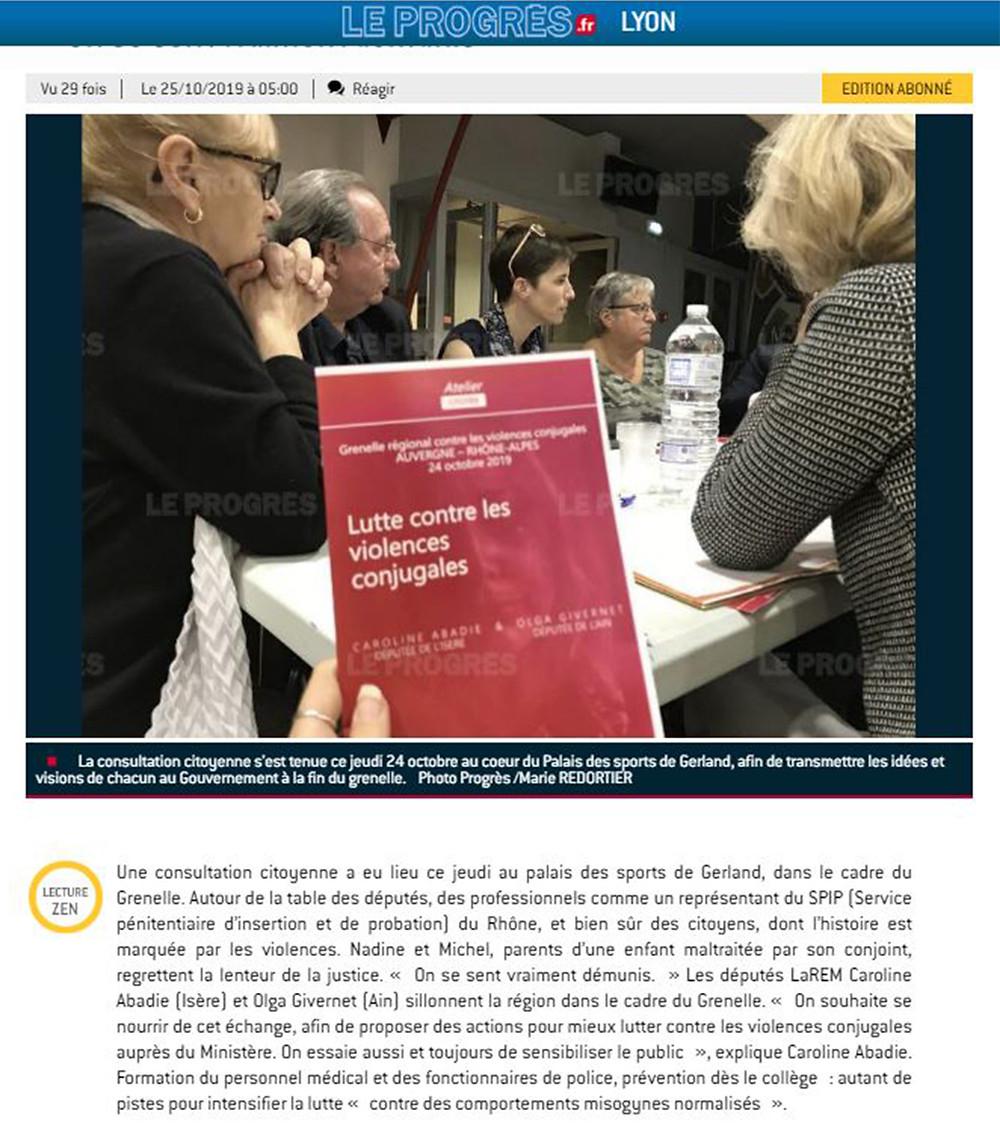 Article de presse - consultation citoyenne