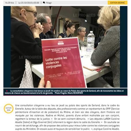 Le Progrès : Consultation citoyenne à Lyon #GVC