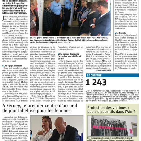 Le Dauphiné libéré : le GVC fait escale à l'association Ni Putes Ni Soumises de Ferney