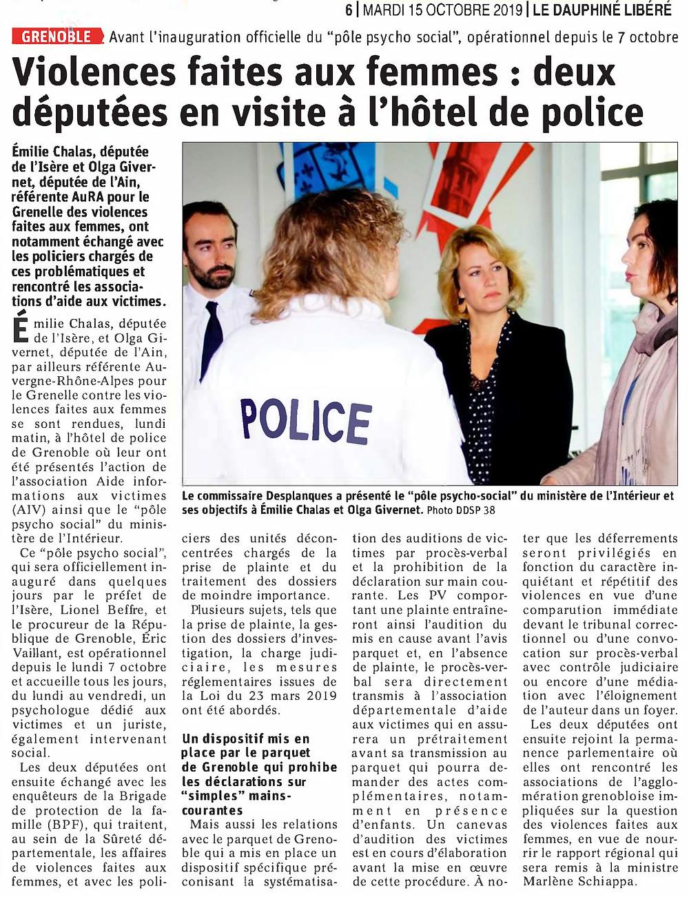 Article de presse - GVC Grenoble