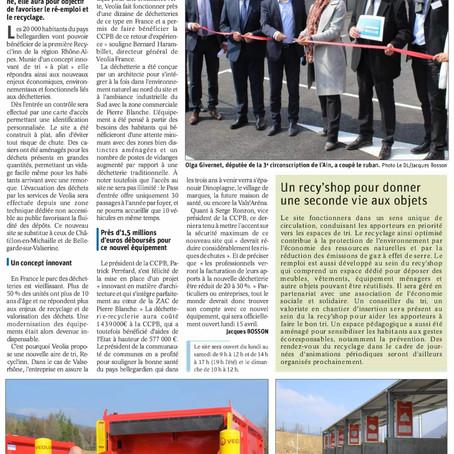 Le Dauphiné libéré : Recycl'inn, un nouvel outil au service du pays bellegardien