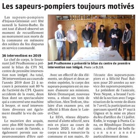 Le Dauphiné libéré : les sapeurs-pompiers toujours motivés