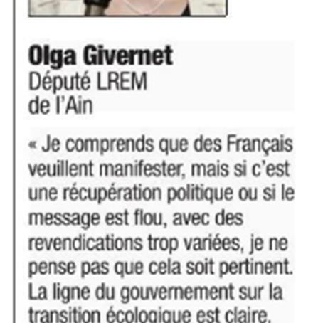 Le Dauphiné : revendications des Gilets jaunes