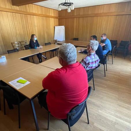 Temps d'échanges avec le Maire de Champfromier et son équipe municipale