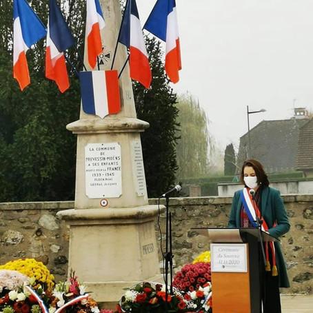 Cérémonie de commémoration du 11 novembre 2020