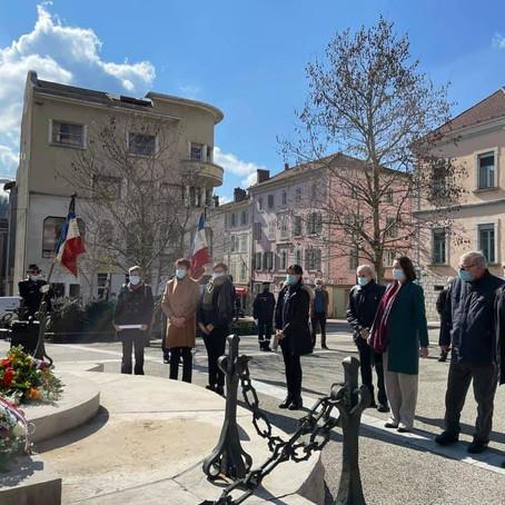 Cérémonie de commémoration en souvenir des victimes de la Guerre d'Algérie